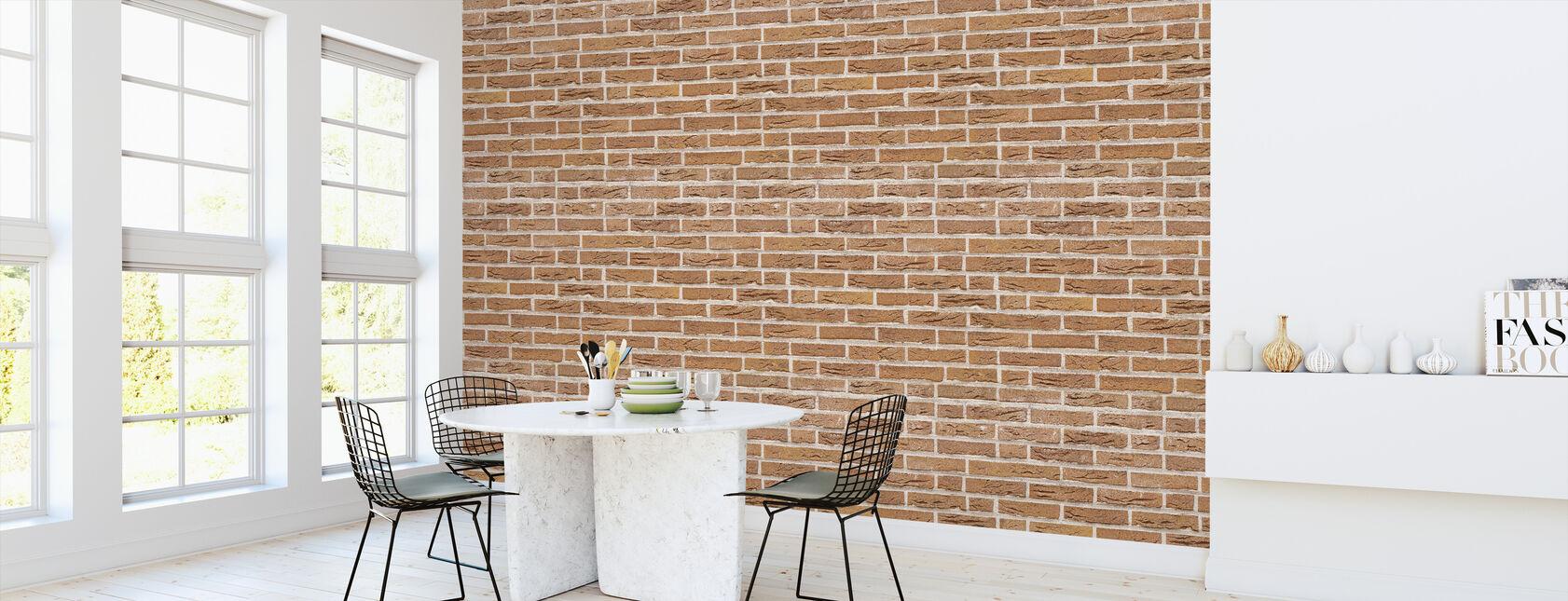 Orange Brick Wall - Wallpaper - Kitchen