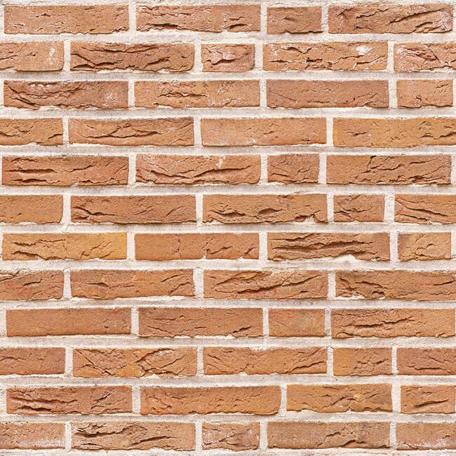 Orange Brick Wall Fototapeter & Tapeter 100 x 100 cm