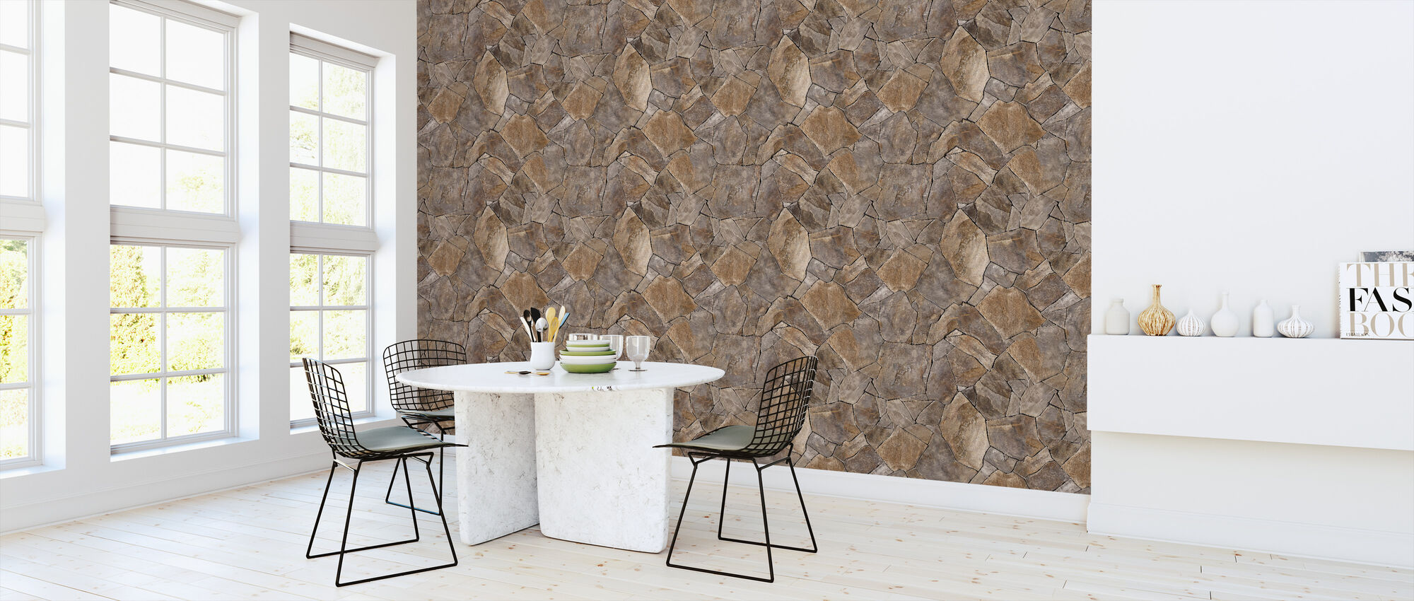 Perfect Stone Wall - Wallpaper - Kitchen