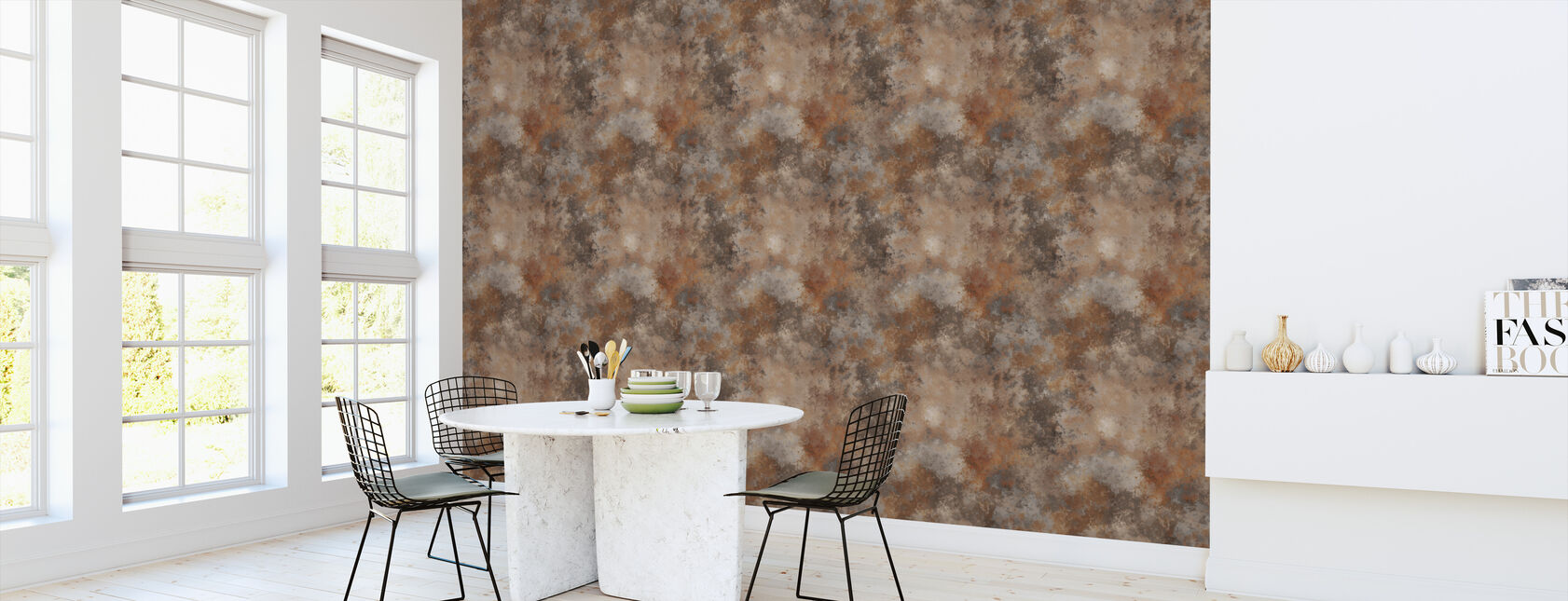 Rusty Metal - Wallpaper - Kitchen