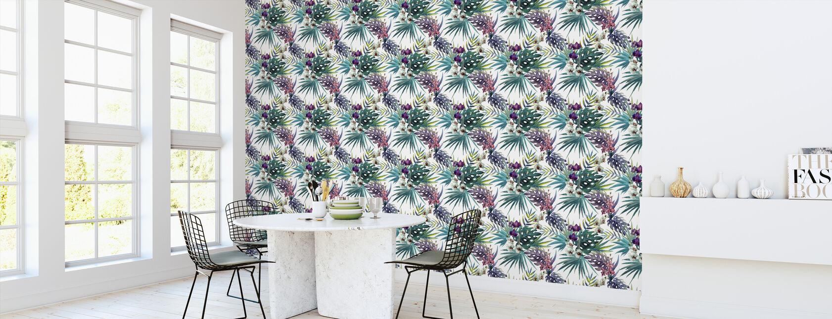 Jungle Watercolor Pattern - Wallpaper - Kitchen