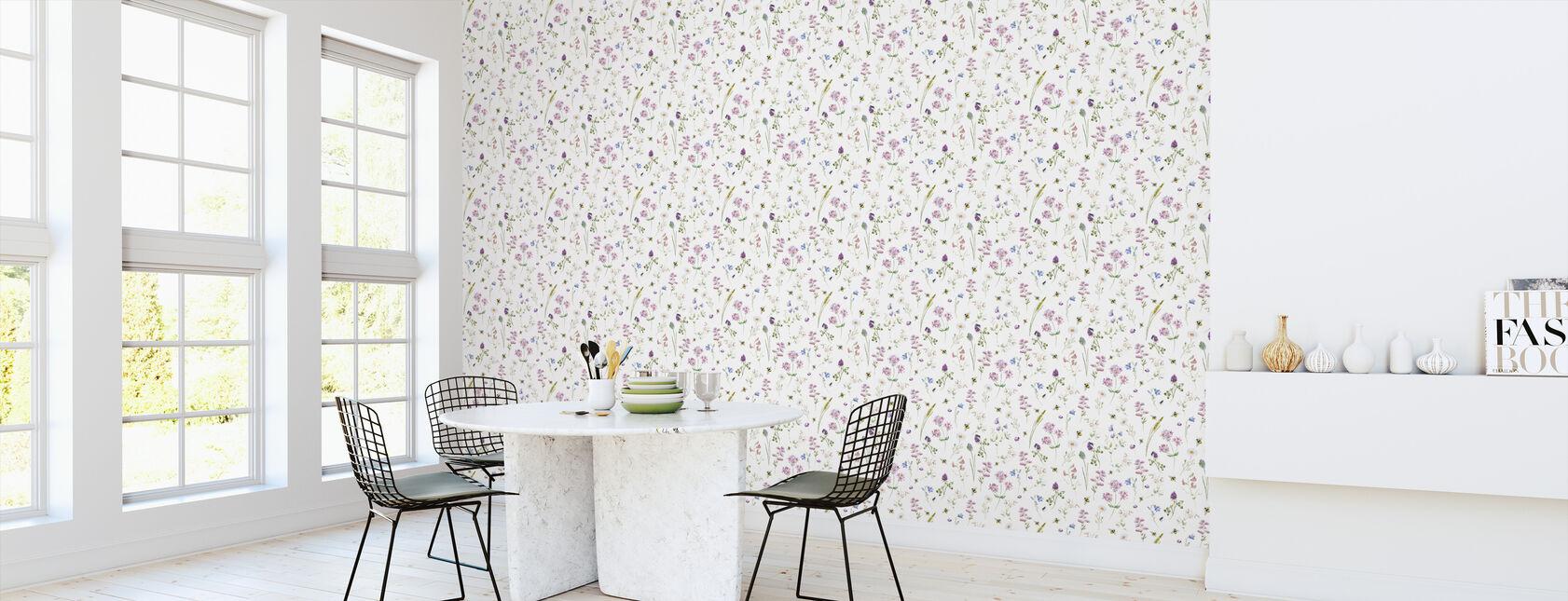 Vilde blomster Akvarel Mønster - Tapet - Køkken
