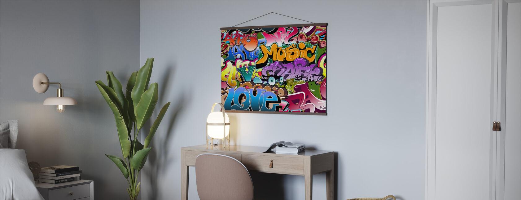 Musikk elsker graffiti - Plakat - Kontor