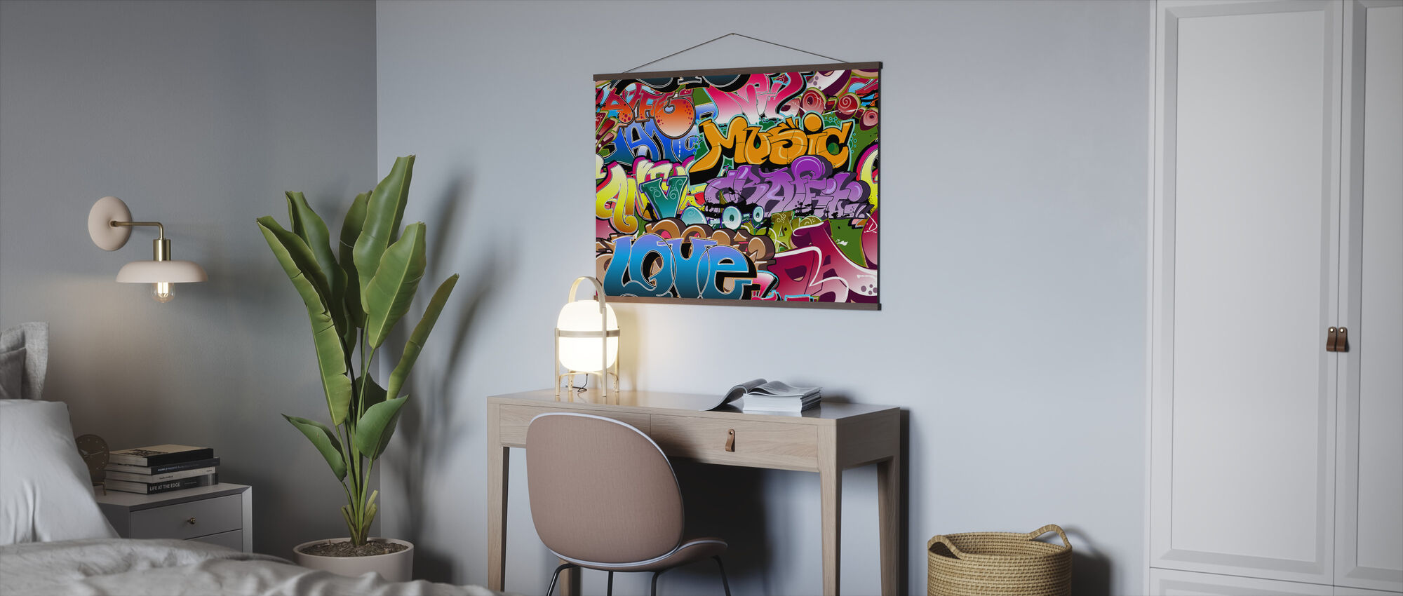 Music Love Graffiti - Poster - Office