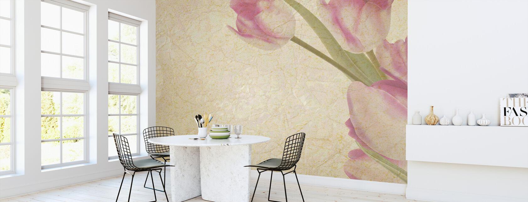 Vintage Tulips - Wallpaper - Kitchen