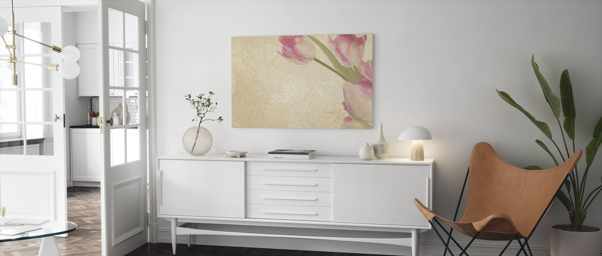 Vintage Tulips - Canvas print - Living Room