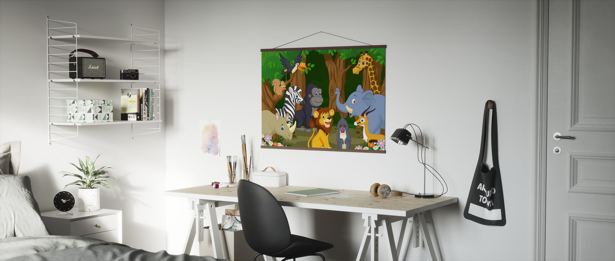 Wild Animal Cartoon - Poster - Office