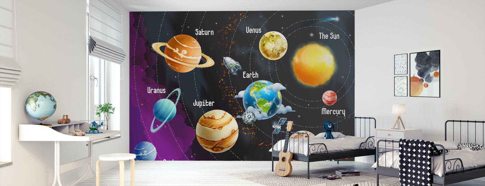 Solar System Planets - Wallpaper - Kids Room
