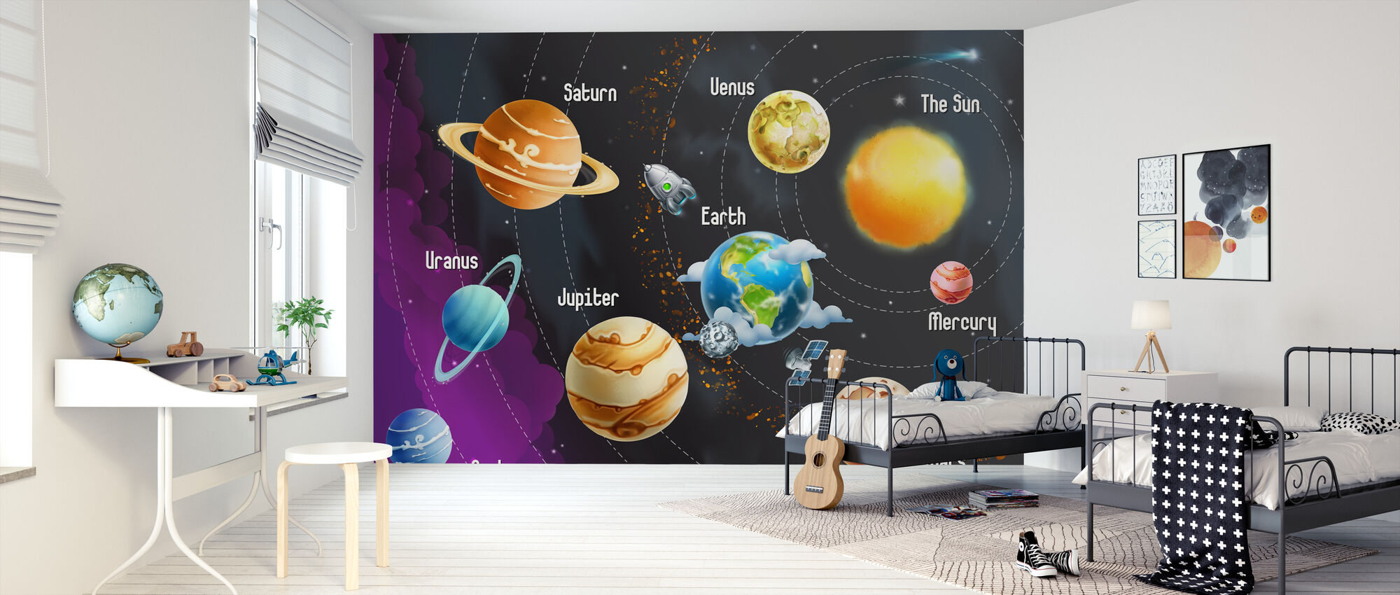 Solar System Planets - Wallpaper - Kids Room