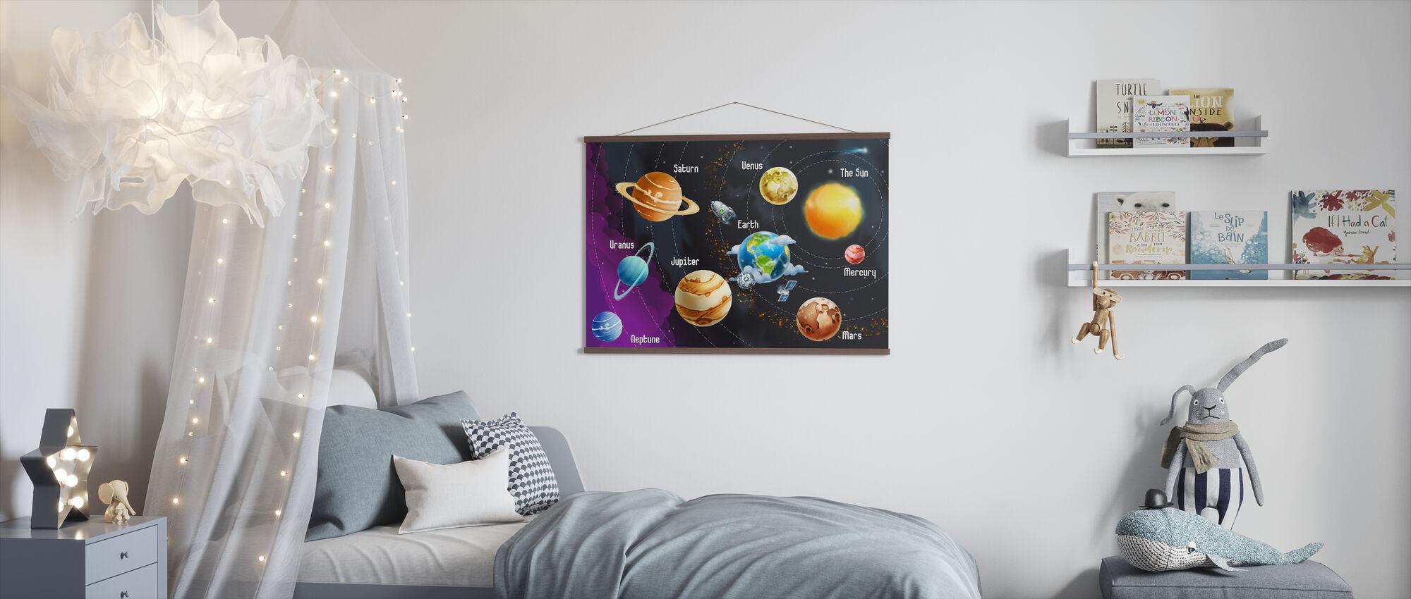 Solsystem planeter - Poster - Barnrum