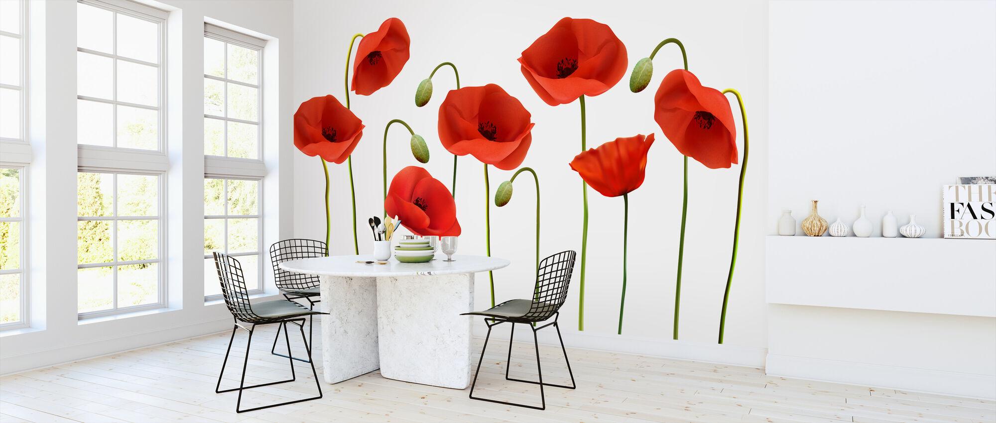 Red Poppies - Wallpaper - Kitchen
