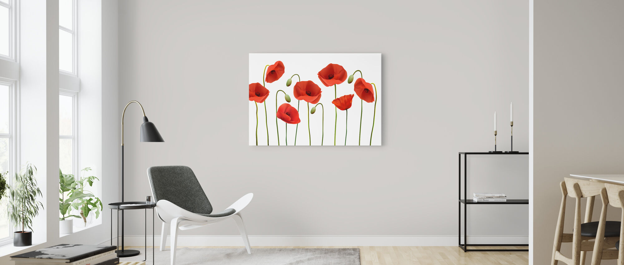 Red Poppies - Canvas print - Living Room