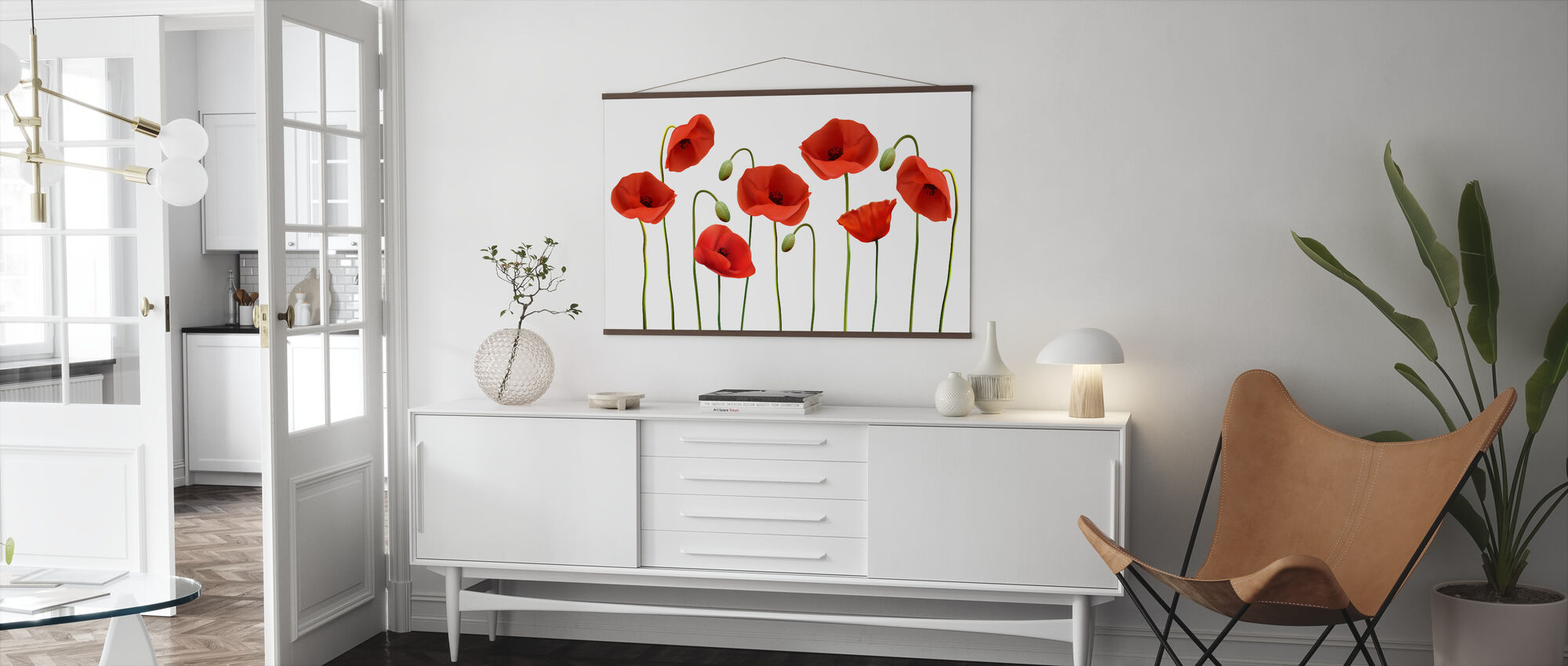 Red Poppies - Poster - Living Room