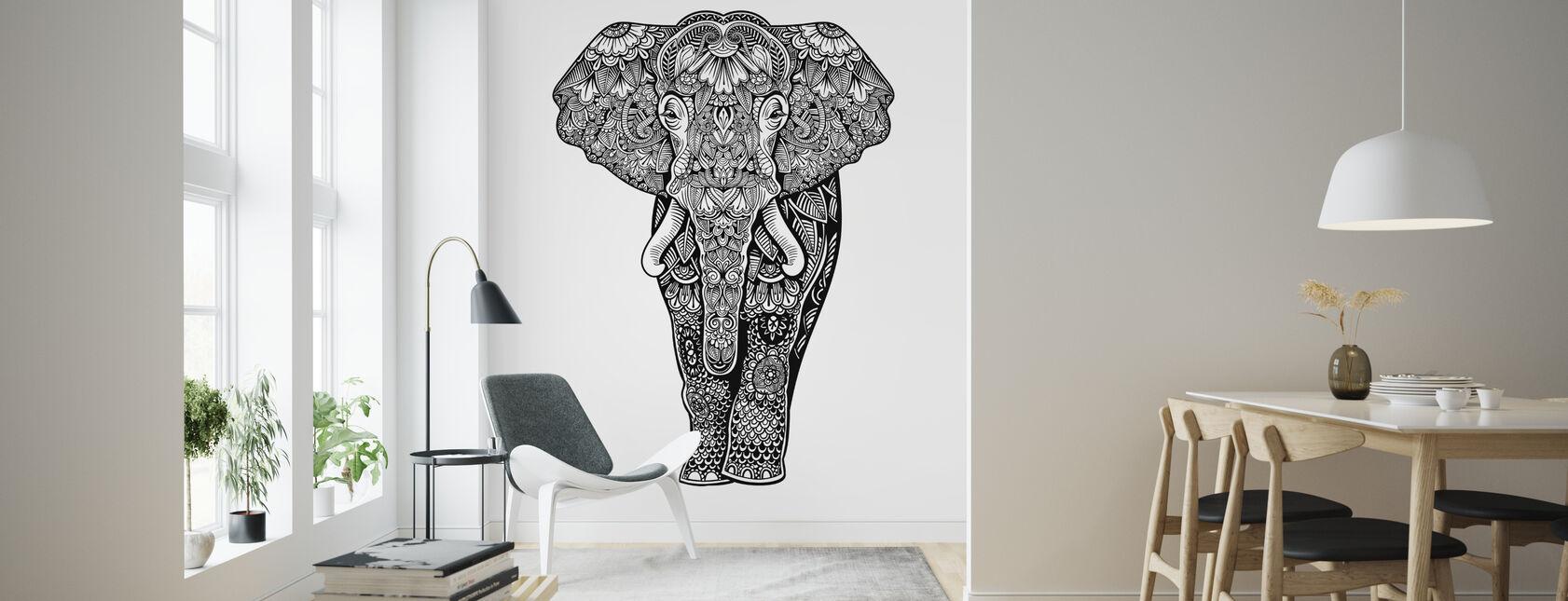 Henna Elefant - Tapet - Vardagsrum
