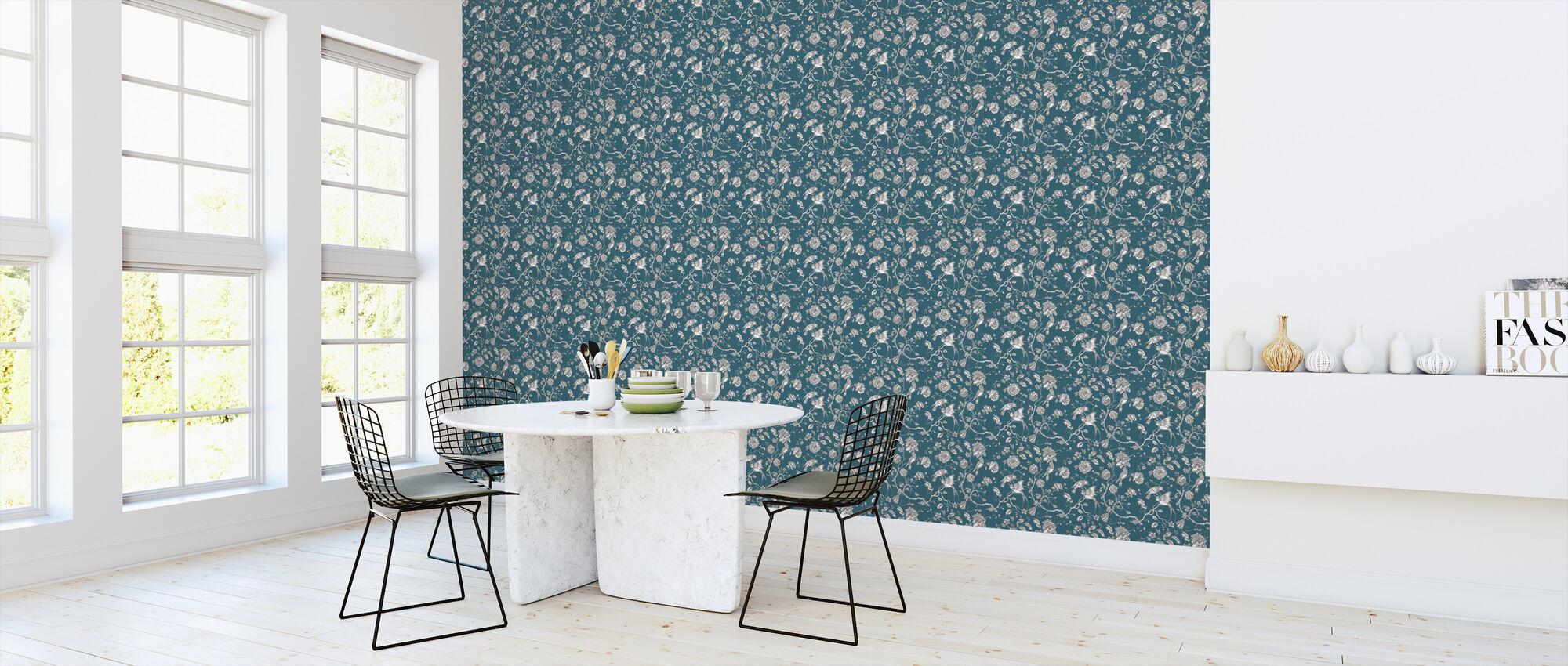 Hummingbird Petrol - Wallpaper - Kitchen