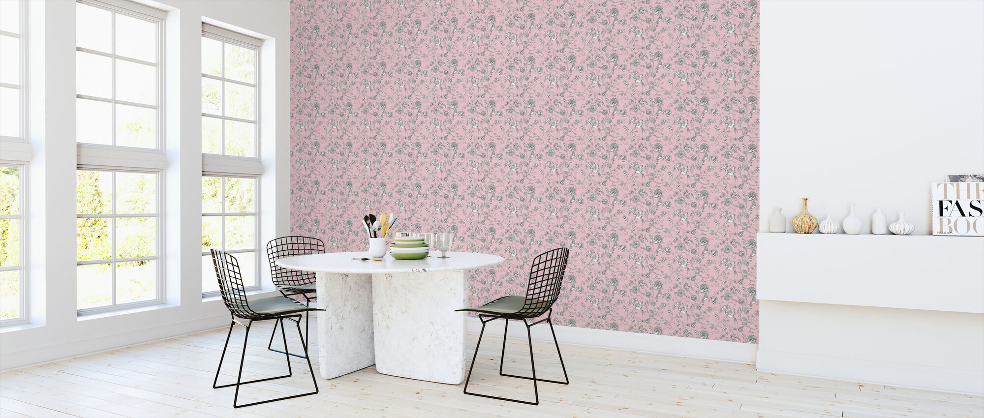 Hummingbird Pink - Wallpaper - Kitchen