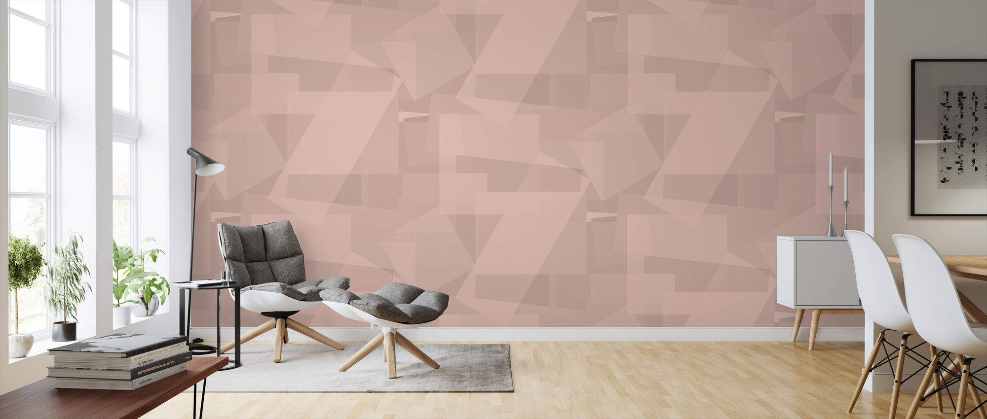 Block Powder - Wallpaper - Living Room