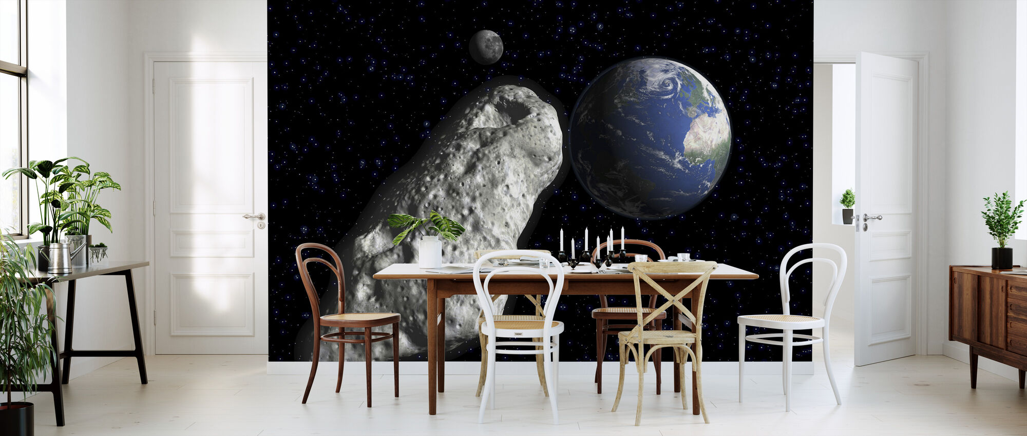 asteroid mit fototapeten einrichten photowall. Black Bedroom Furniture Sets. Home Design Ideas