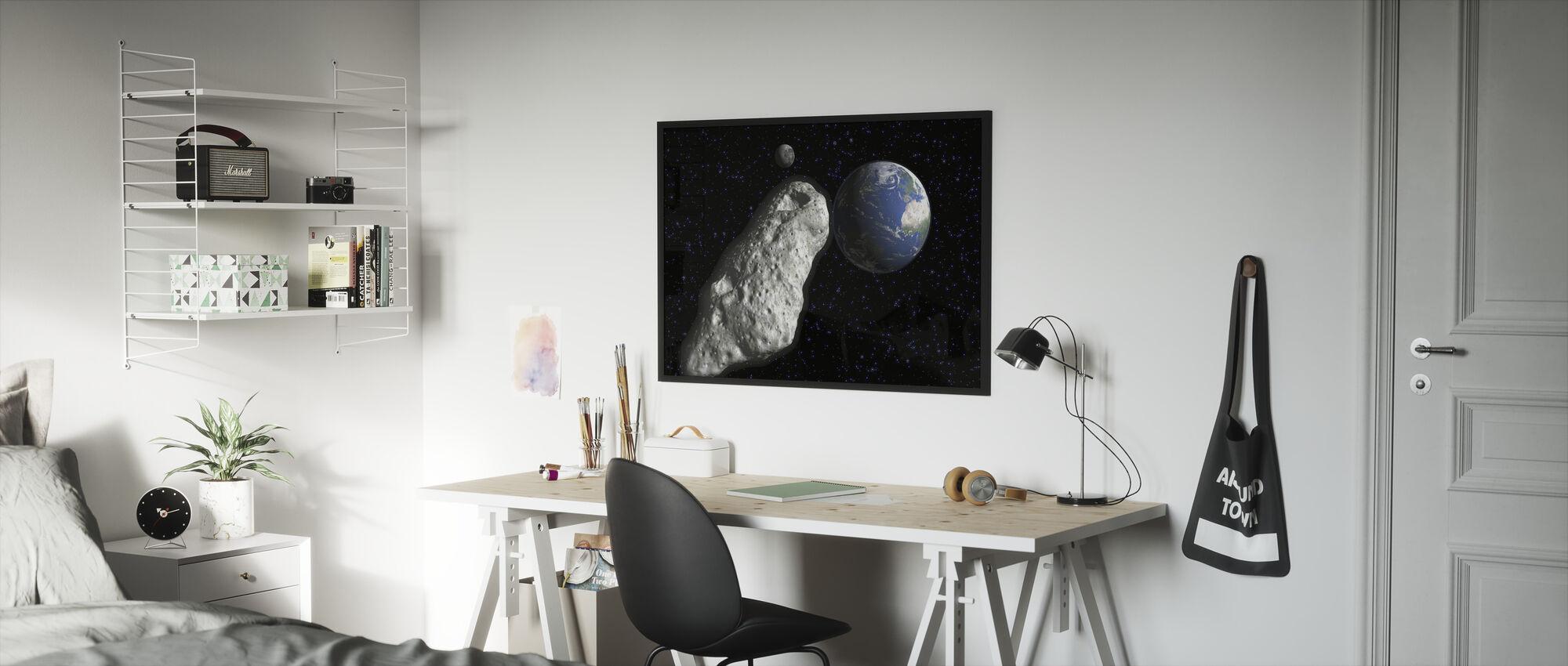 Asteroidi - Kehystetty kuva - Lastenhuone