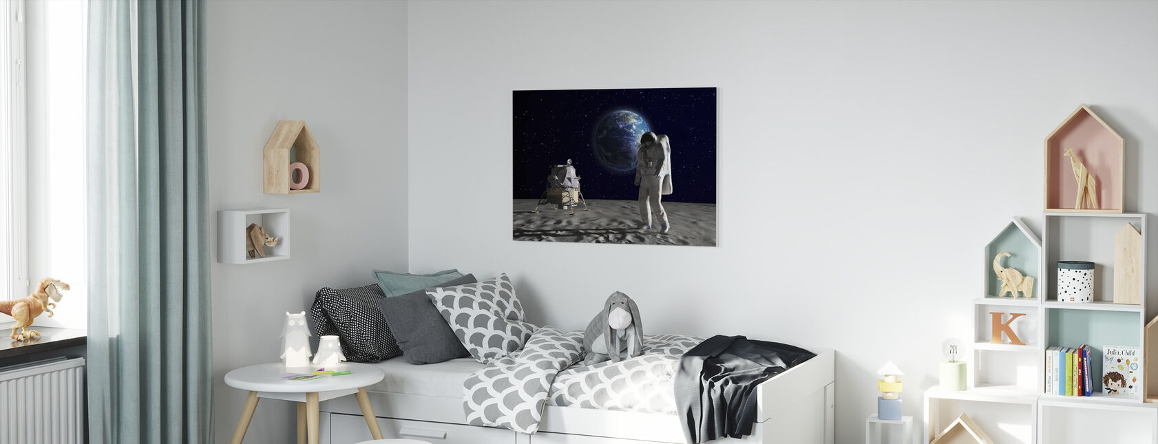 Astronaut on the Moon 2 - Canvas print - Kids Room