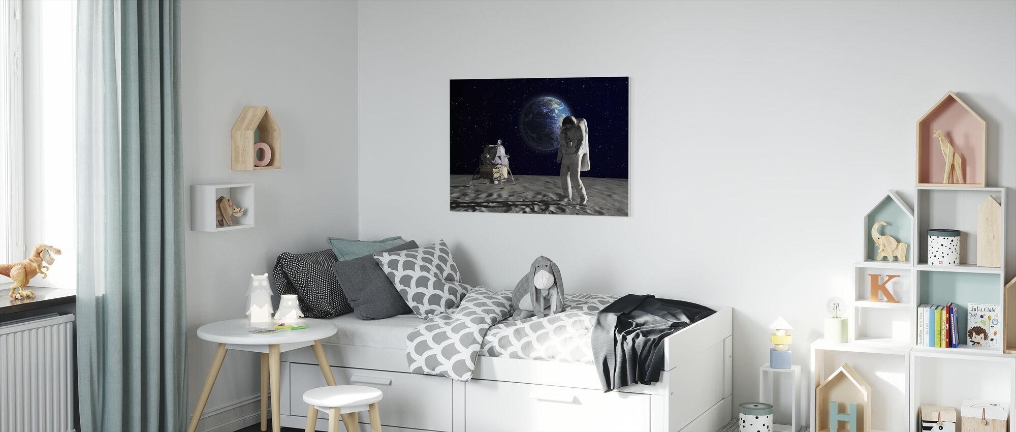 Astronaut on the Moon 2 - Canvas print - Kids Room