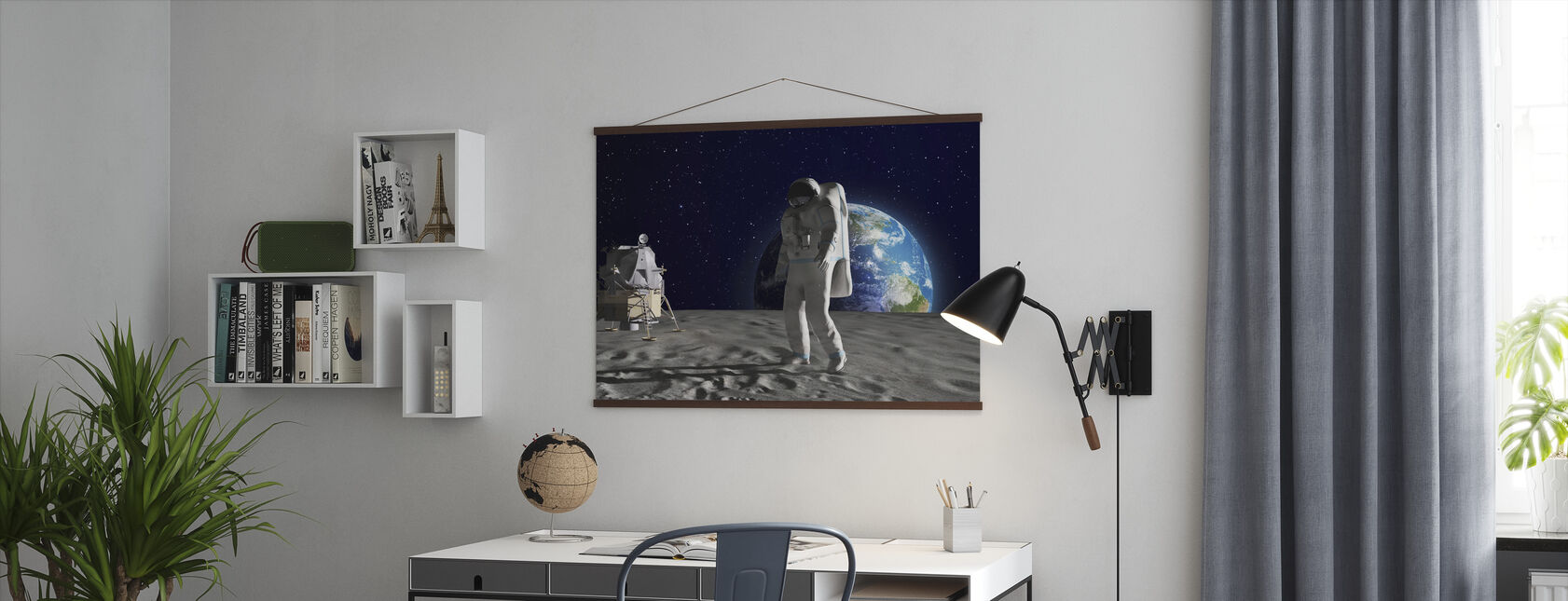 Astronaut on the Moon - Poster - Office