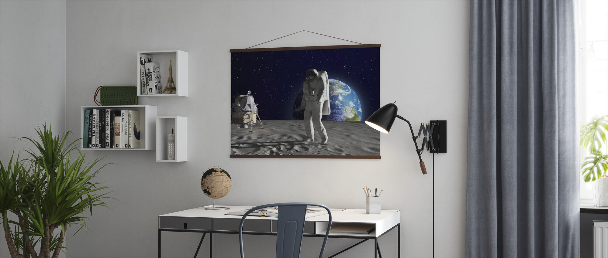 Astronaut on the Moon - Poster - Office