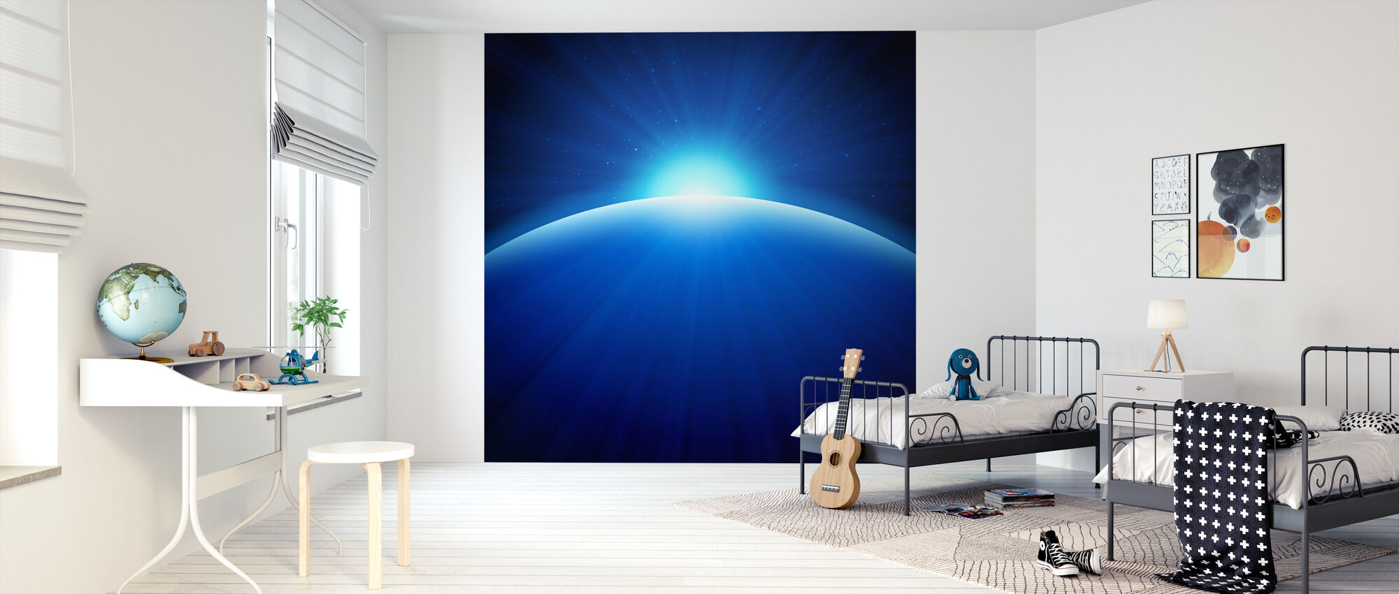 Global Edge Sunrise - Wallpaper - Kids Room