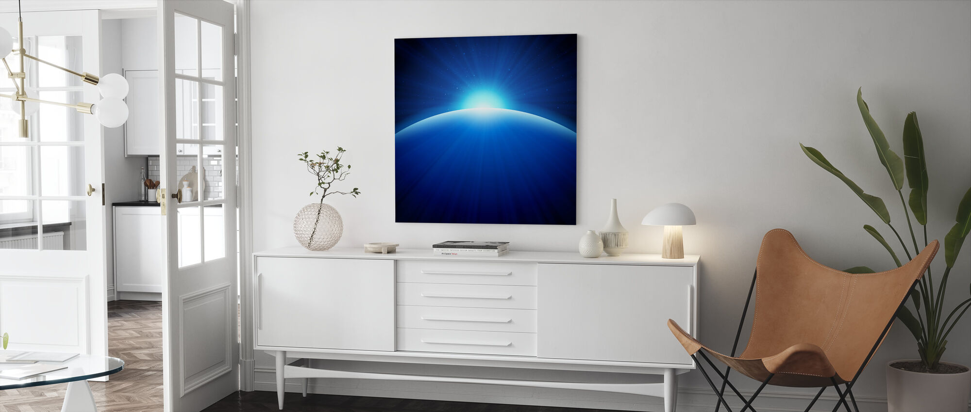 Global Edge Sunrise - Canvas print - Living Room