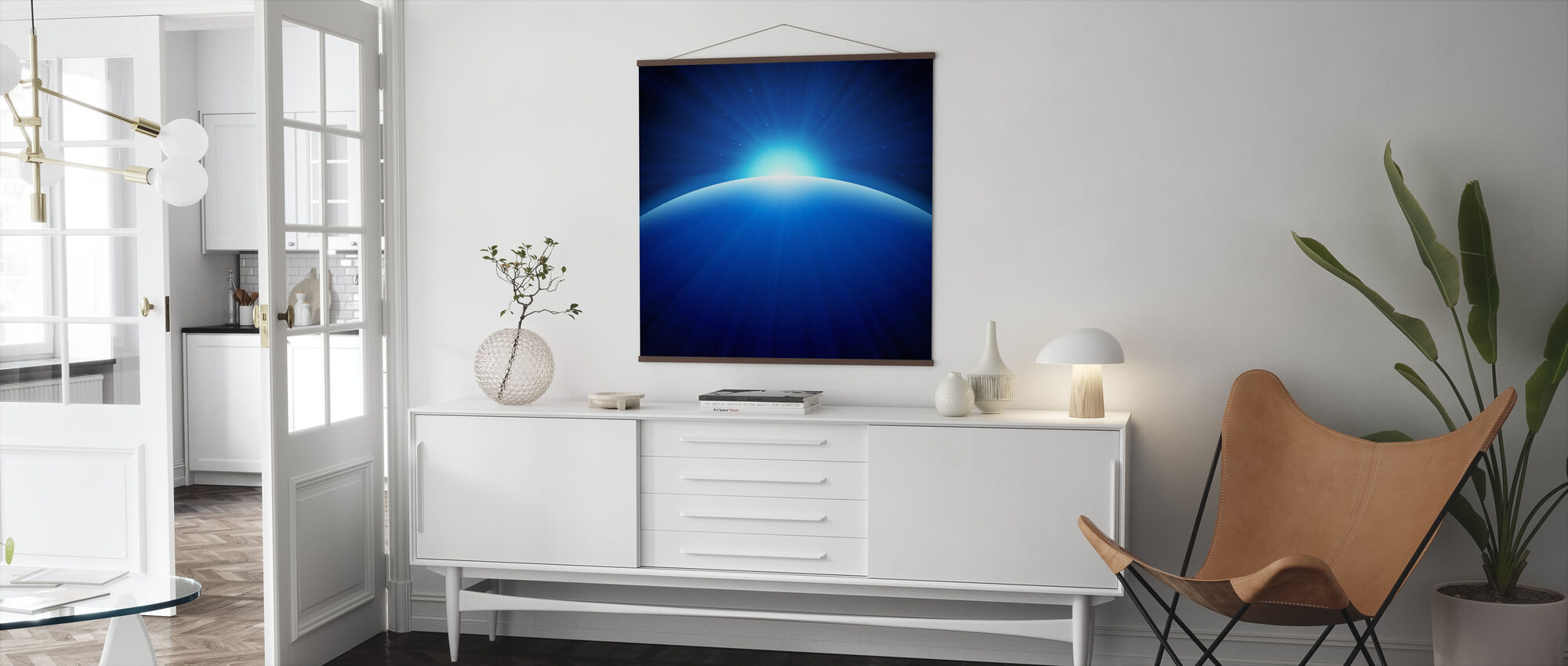 Global Edge Sunrise - Poster - Living Room