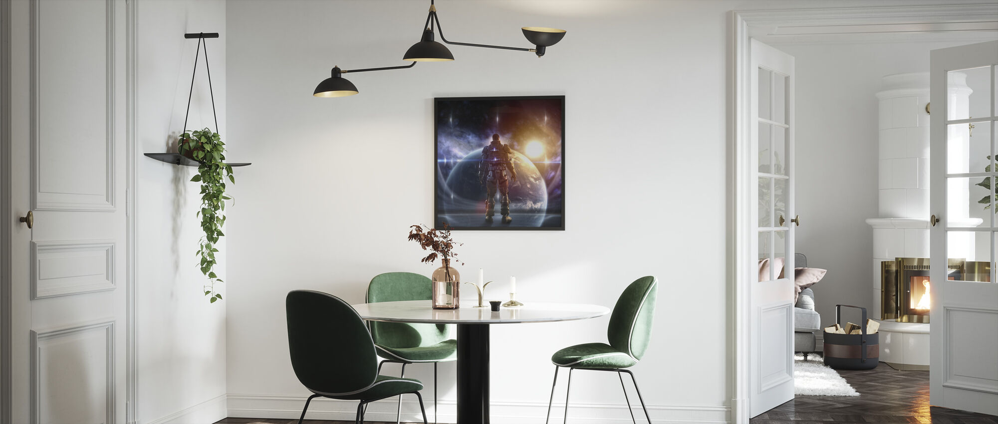 Glowing Armor - Framed print - Kitchen