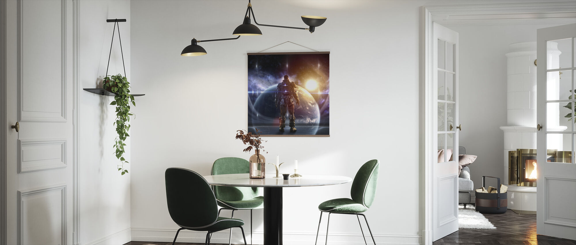 Glowing Armor - Poster - Kitchen
