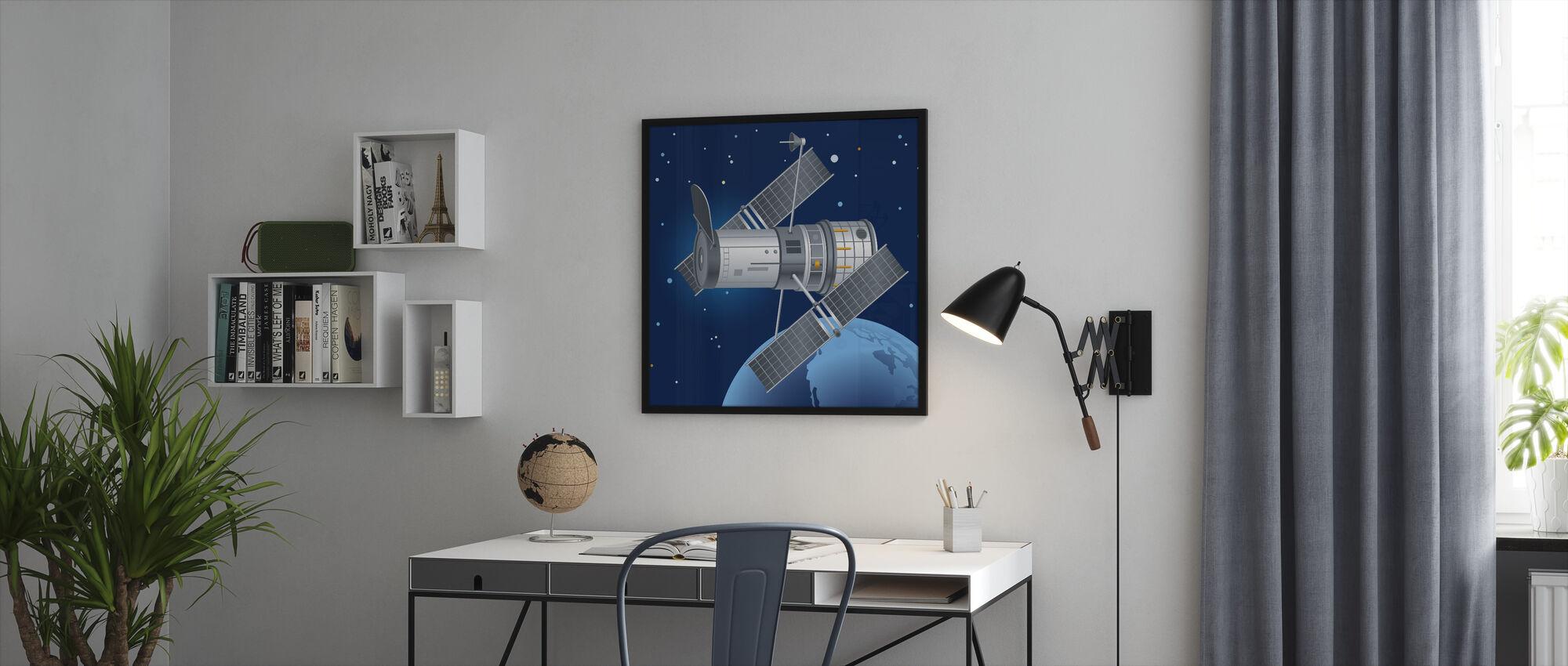 Hubble Teleskooppi - Kehystetty kuva - Toimisto