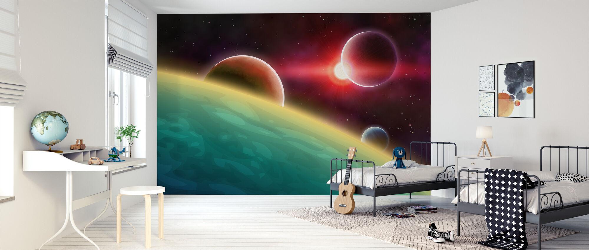 Ulompi avaruus - Tapetti - Lastenhuone