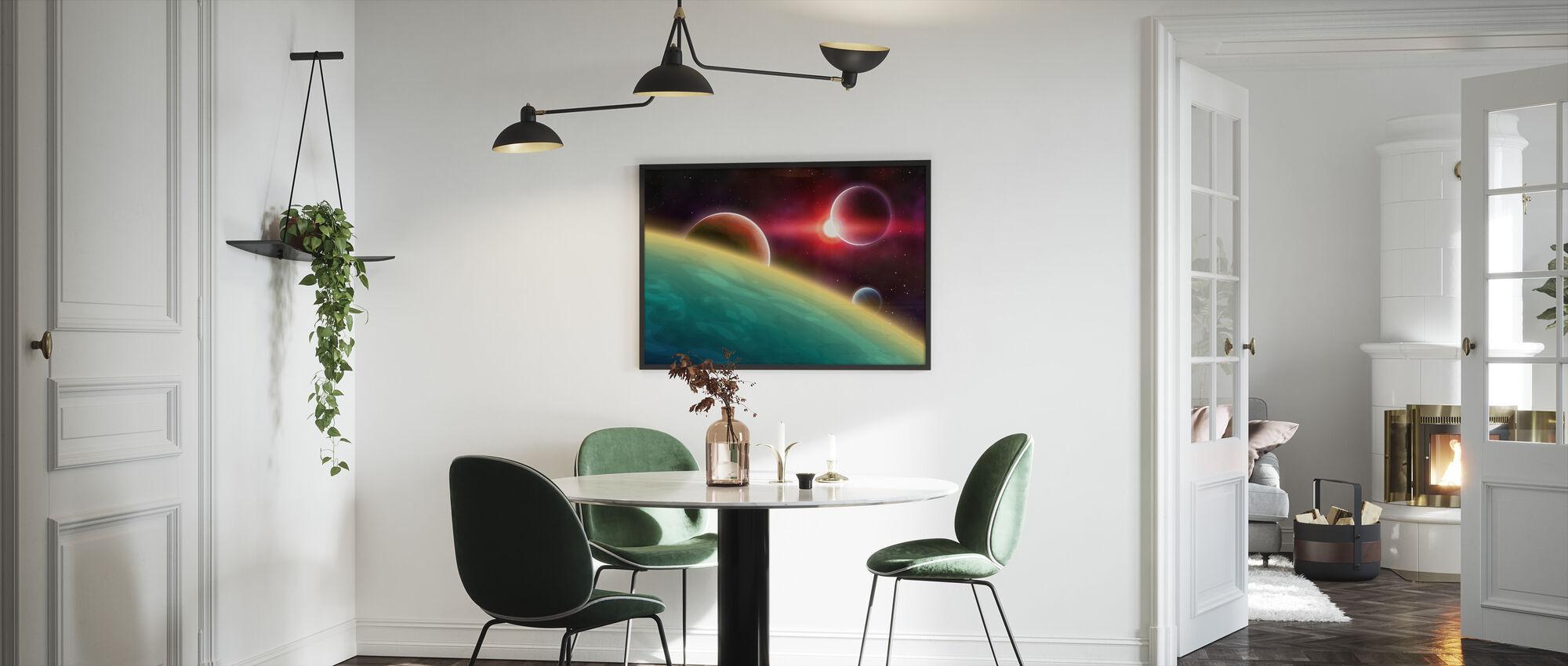 Ulompi avaruus - Kehystetty kuva - Keittiö