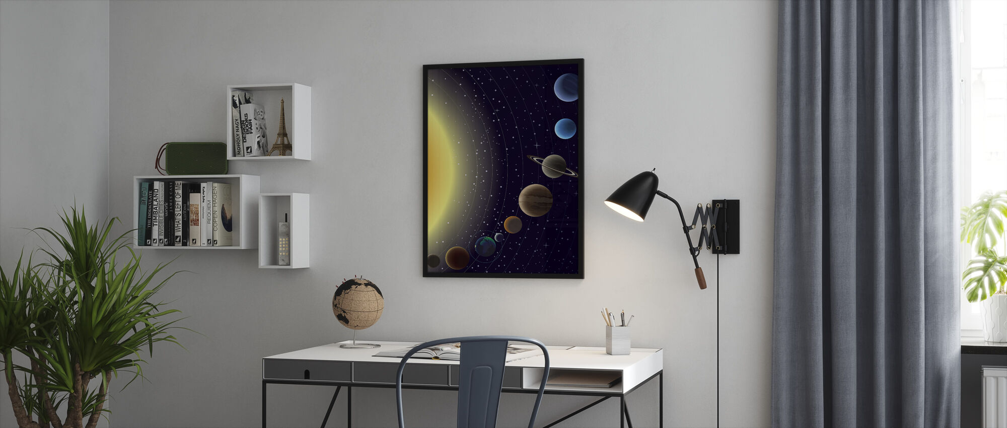 Planets - Framed print - Office
