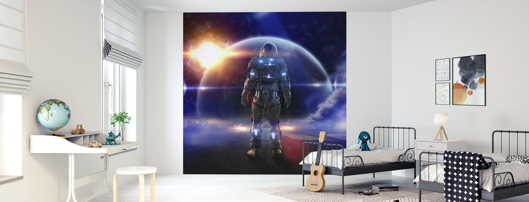 Space Knight - Wallpaper - Kids Room