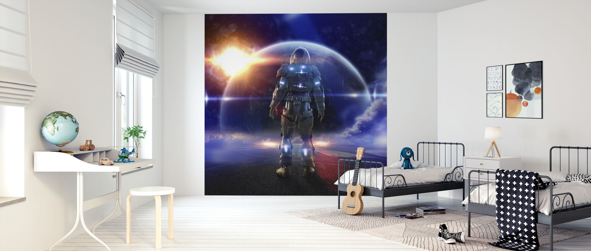 Space Knight - Wallpaper - Kids Room