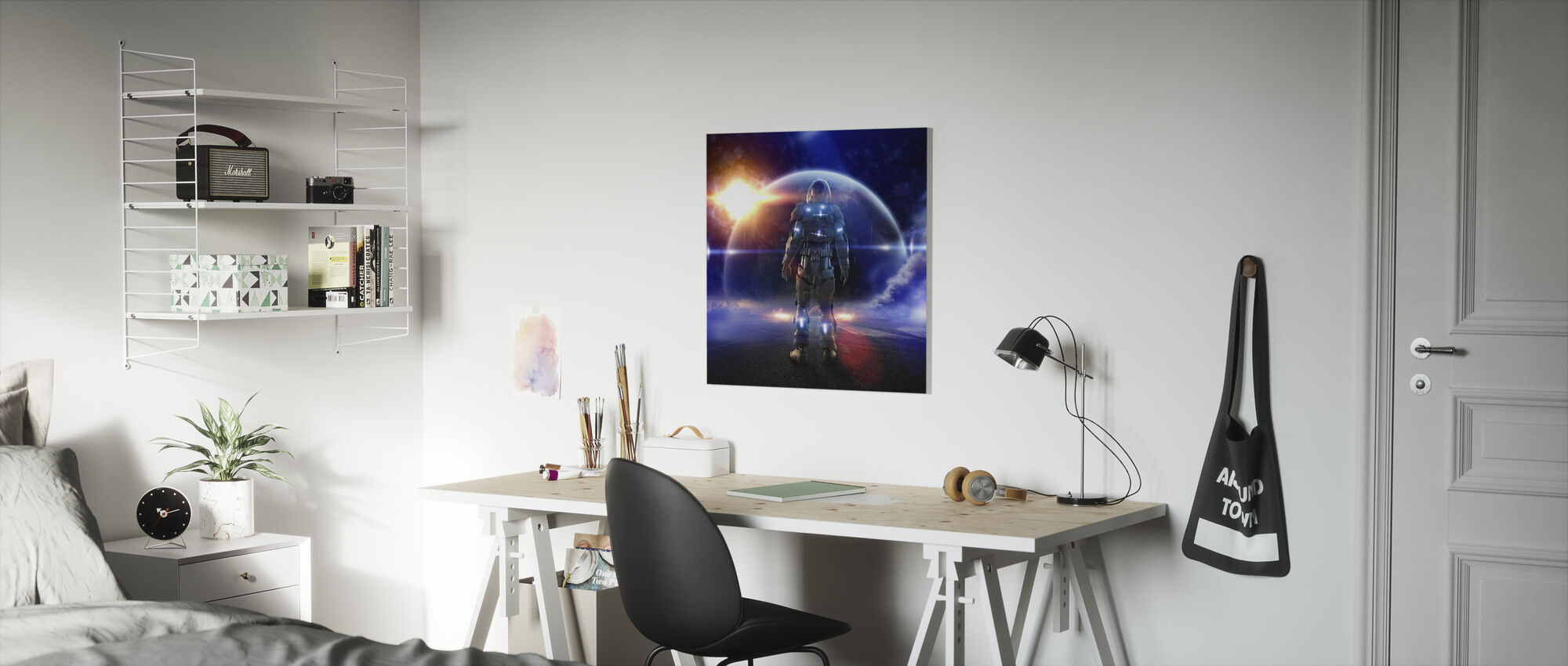 Space Knight - Canvas print - Kids Room