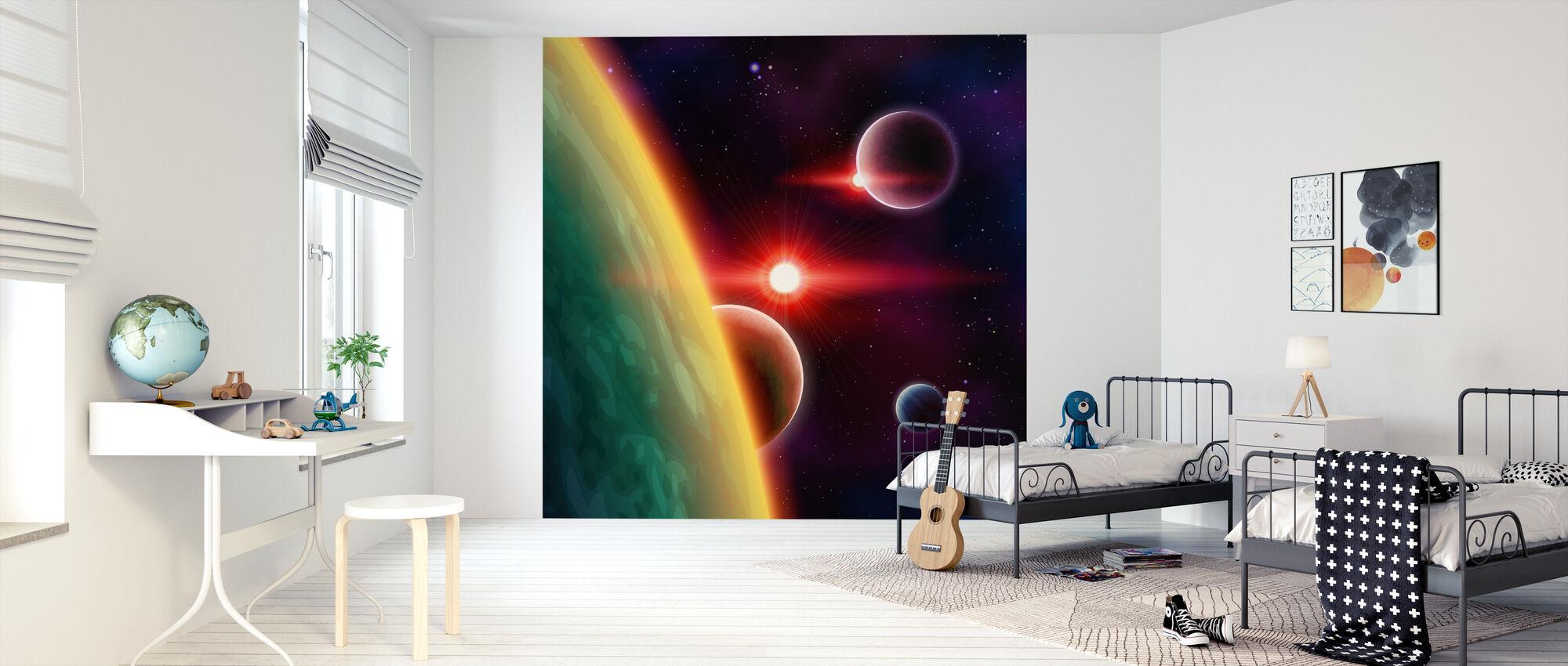 Spaces between Galaxies - Wallpaper - Kids Room