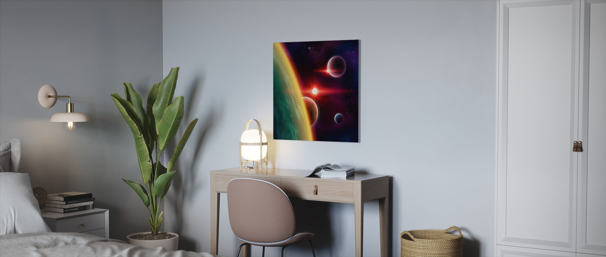 Spaces between Galaxies - Canvas print - Office