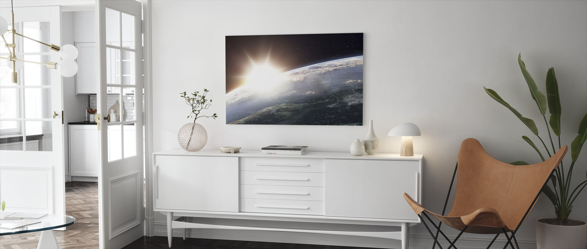 Sun over Earth - Canvas print - Living Room