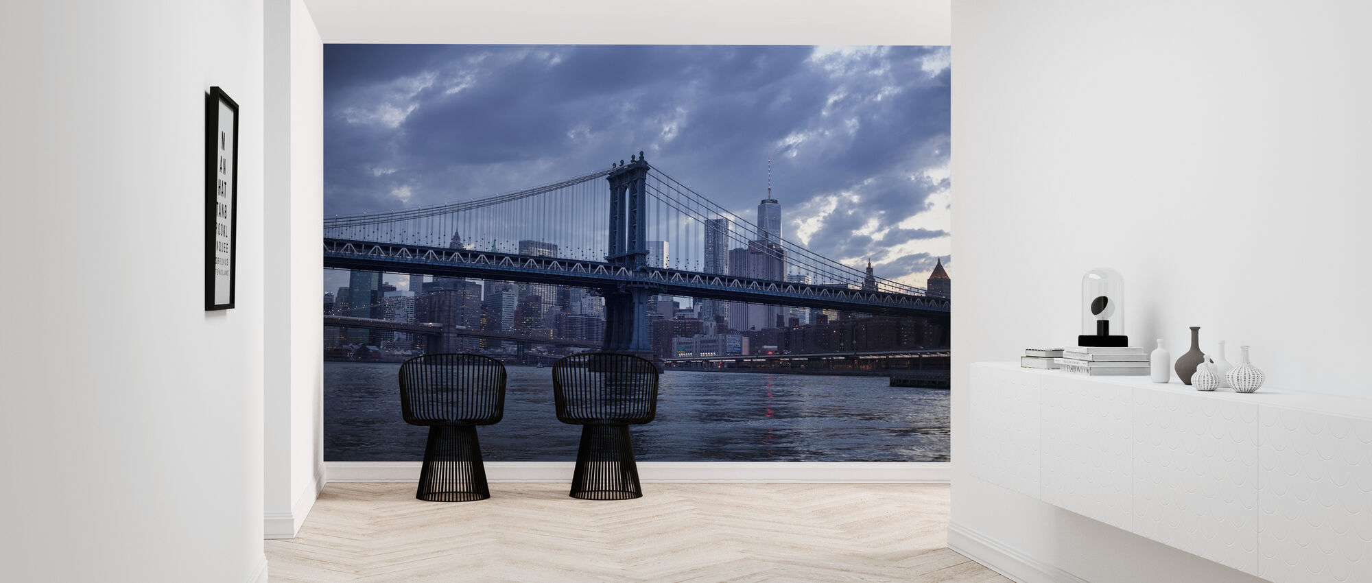 Brooklyn Bridge and Manhattan Bridge - Wallpaper - Hallway
