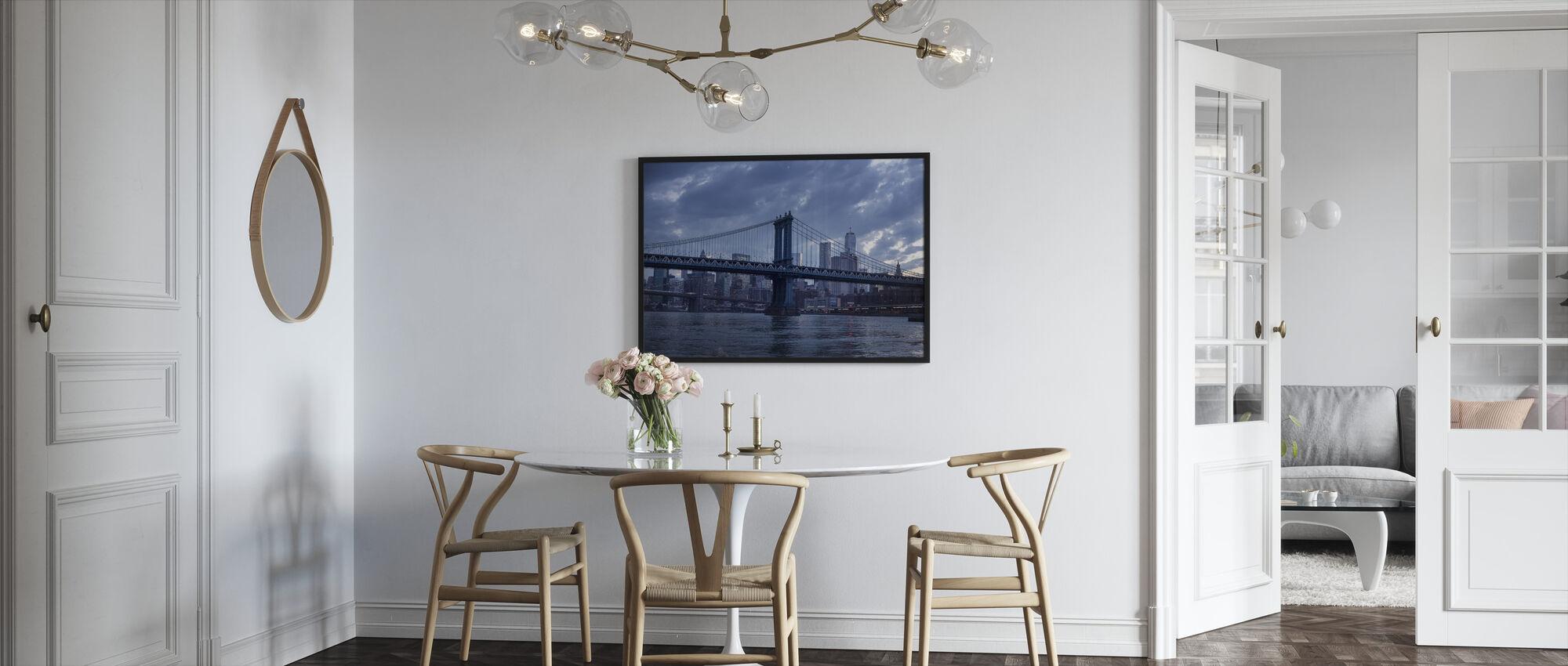 Brooklyn Bridge and Manhattan Bridge - Framed print - Kitchen