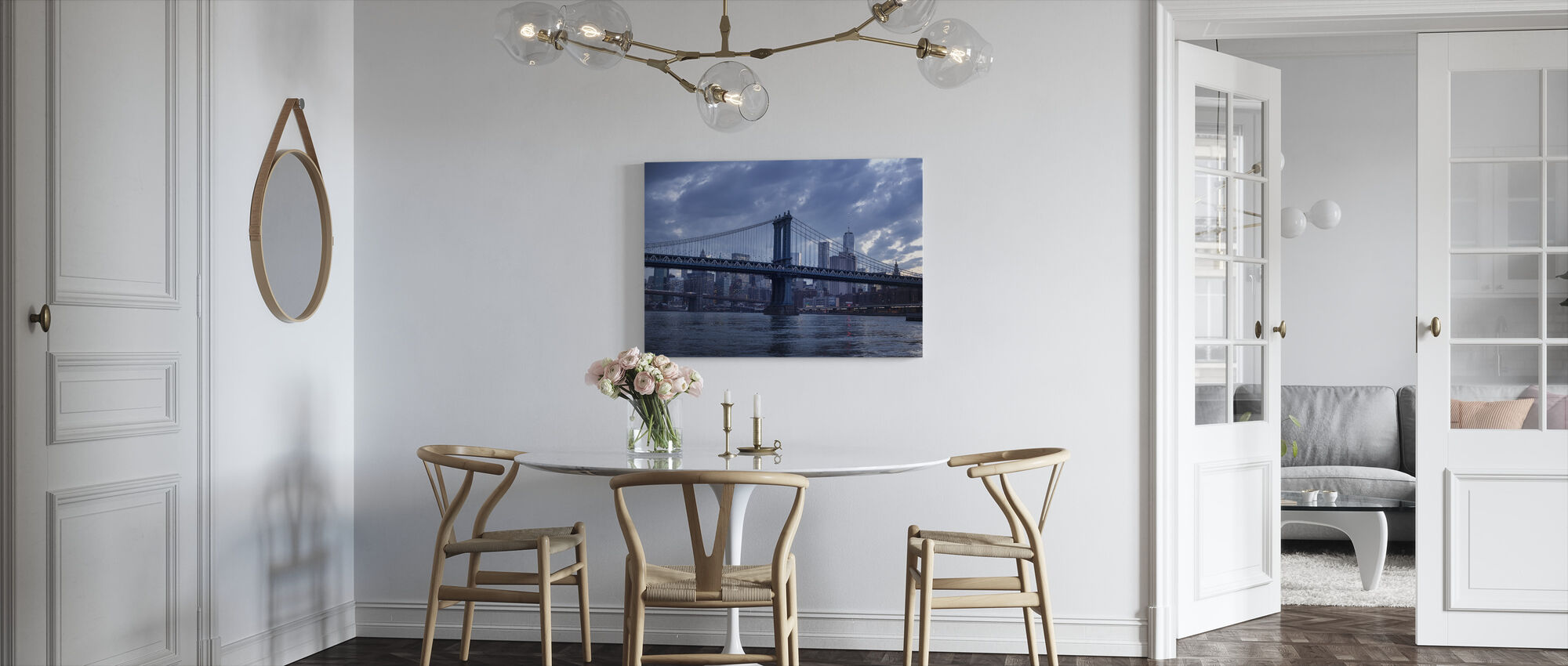 Brooklyn Bridge and Manhattan Bridge - Canvas print - Kitchen