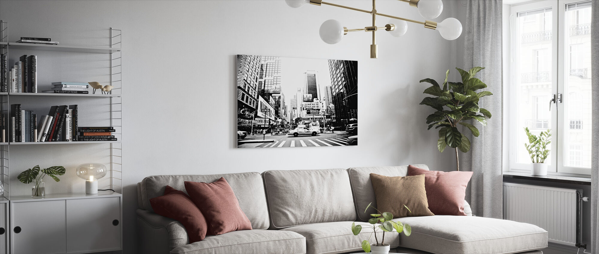 Busy Times Square, New York - Canvas print - Living Room