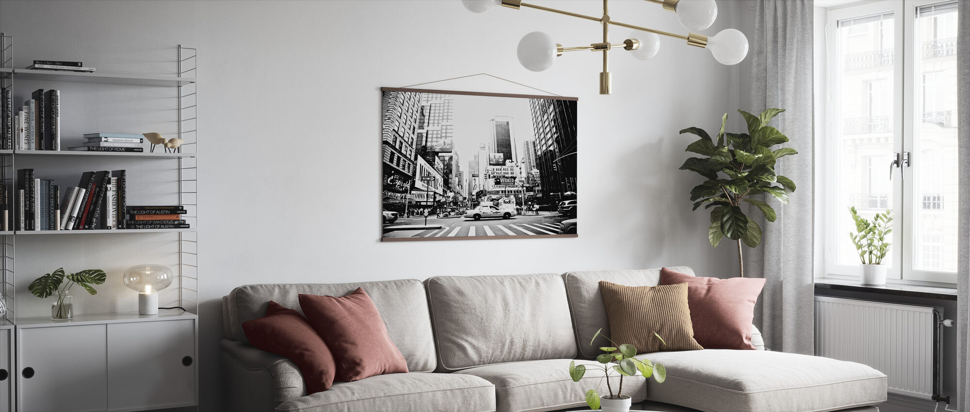 Busy Times Square, New York - Poster - Living Room