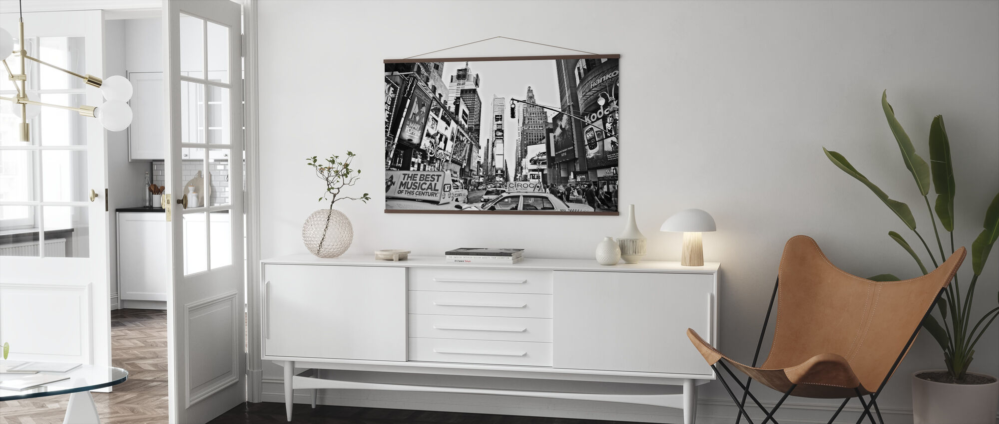 Cabs in Times Square, New York - Poster - Living Room