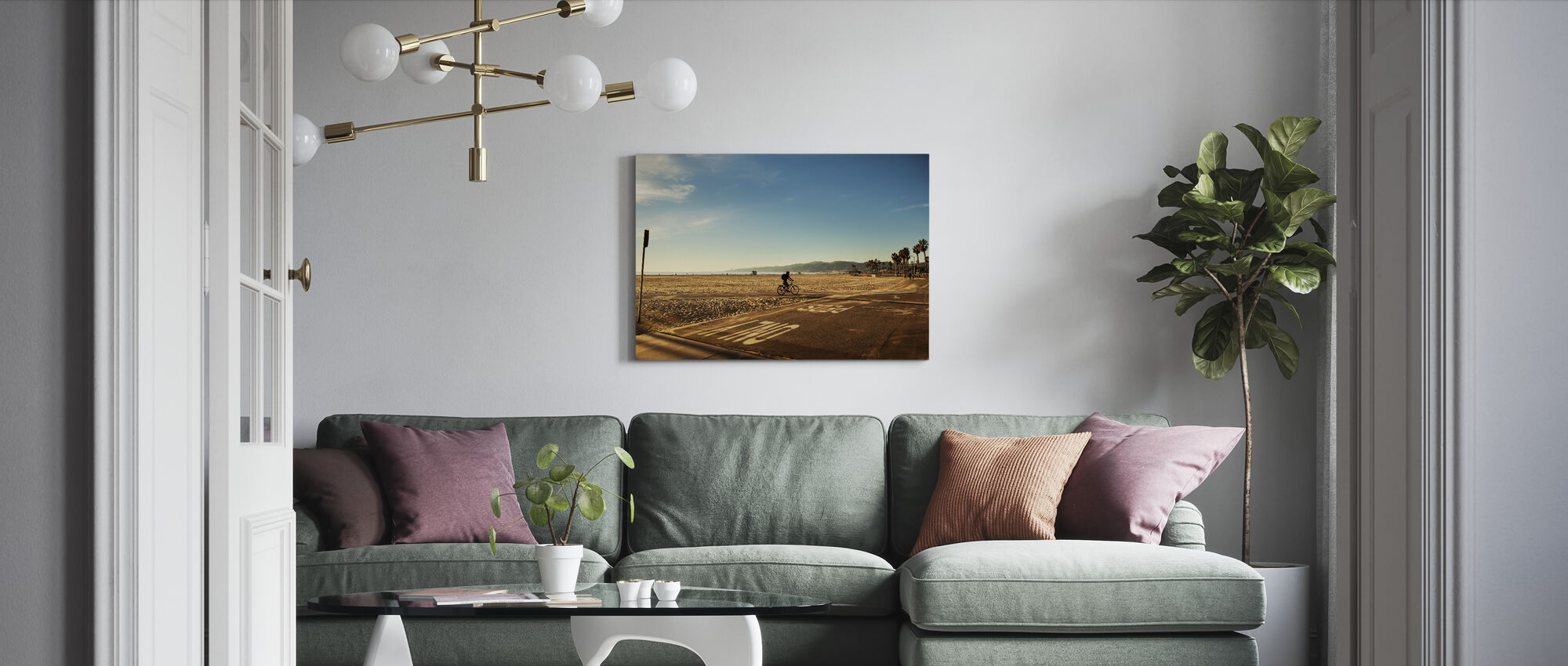 Venice Beach, Los Angeles - Canvas print - Living Room