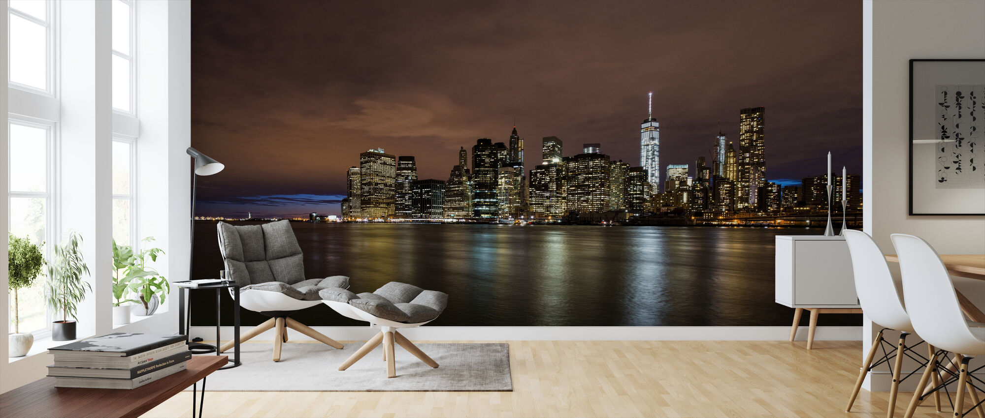 Cloudy Sky over Manhattan - Wallpaper - Living Room